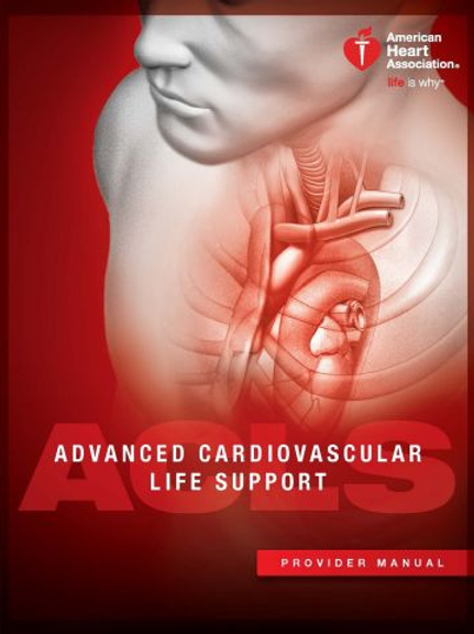 ACLS:  COURSE ONLY. PROVIDER/RENEWAL. BOOKS SOLD SEPARATELY