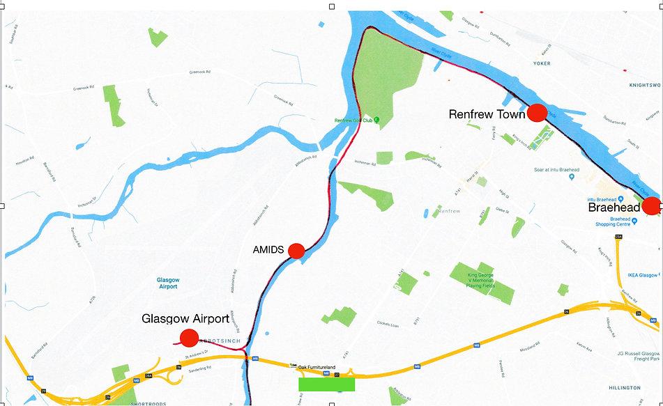 Renfrew Town to Glasgow Airport Detail M