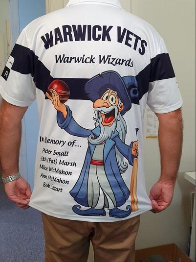 Warwick Vets 2020 Sublimated Shirt Back.