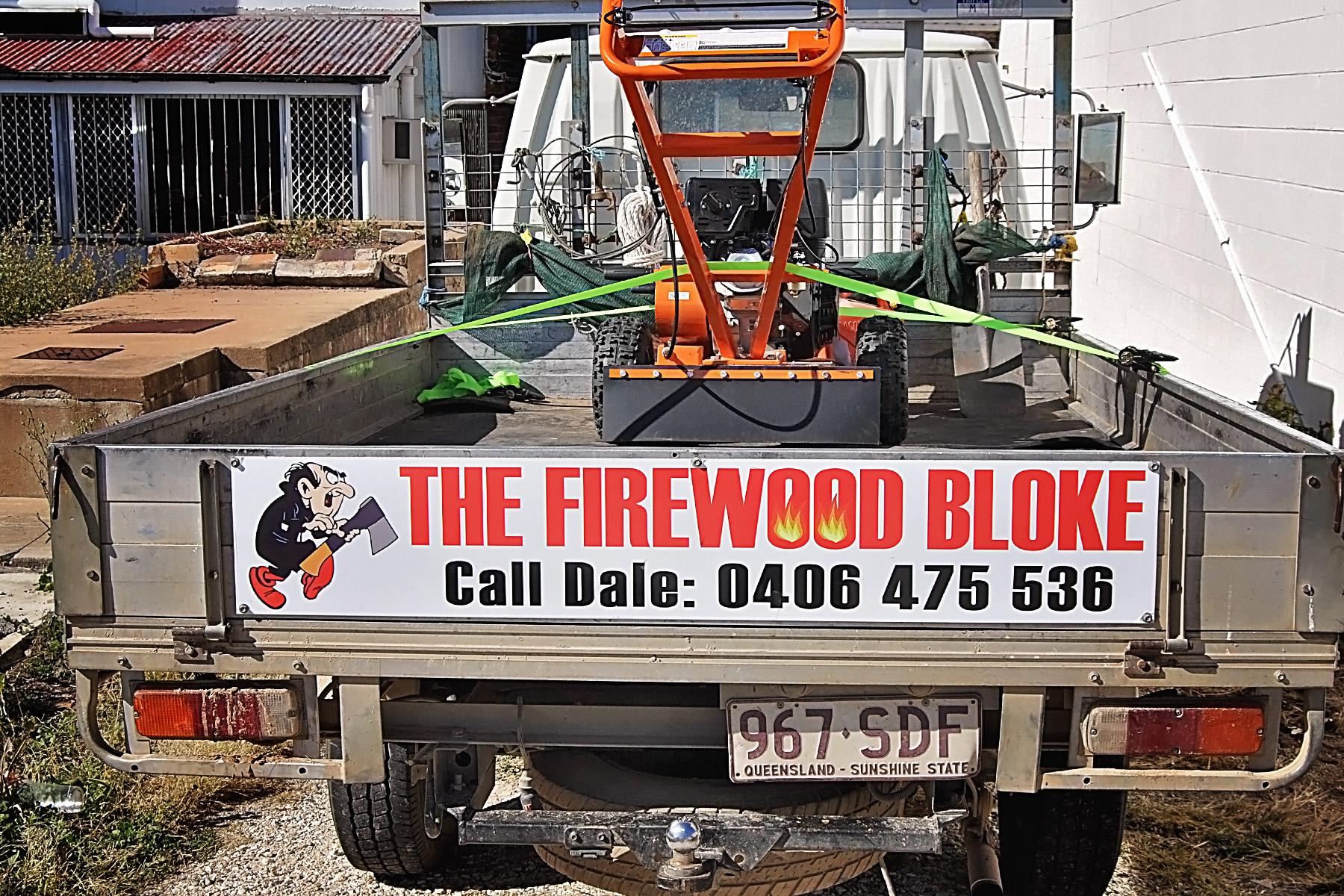 Firewood Black acp ute signage