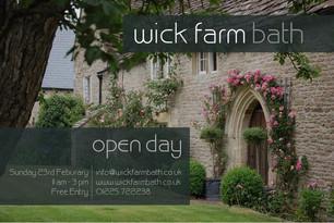 "Wick Farm ""Wedding Open Day"" - Sunday 23rd February 2020"