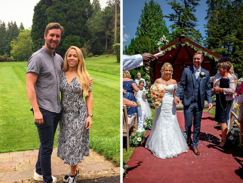 Jake & Leanne return to celebrate at Holne Park House