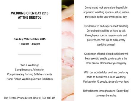 """Bristol Hotel """"Open Day"""" 25.10.15"""