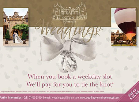 """Dillington House """"New Wedding Packages"""""""