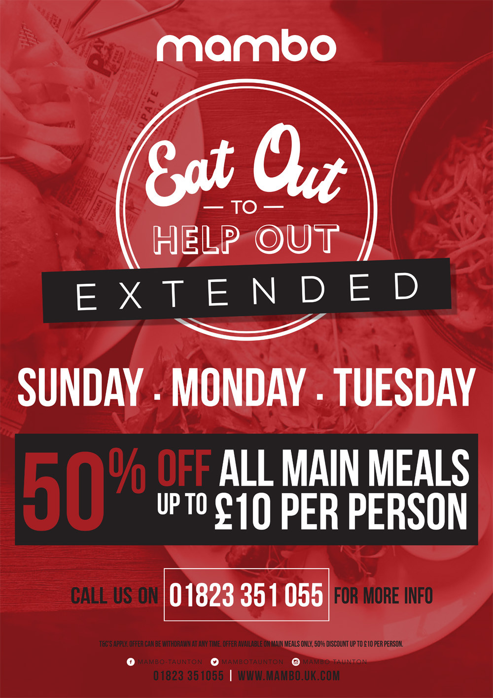 Eat Out To Help Out at Mambo