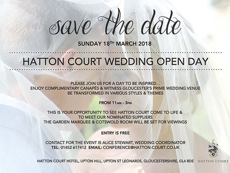 """Hatton Court """"Wedding open day"""" 18.03.18"""