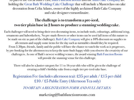 The Great Bath Wedding Cake Challenge