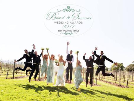 """Aldwick Court Farm """"Best Wedding Venue 2017"""" Bristol & Somerset Wedding Awards"""
