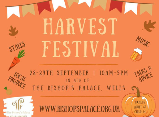Harvest Festival at The Bishops Palace - 28th & 29th Sept