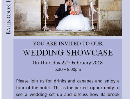 "Bailbrook House ""Wedding Showcase"" 22.02.18"