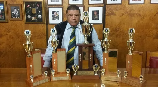 Officer Commanding CTH, Lt. Col. 'Tienie' Lott with the unit's recent trophy haul.