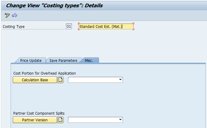 Costing Type (Image 1.04)
