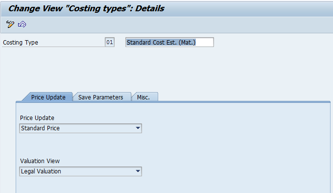 Costing Type (Image 1.02)