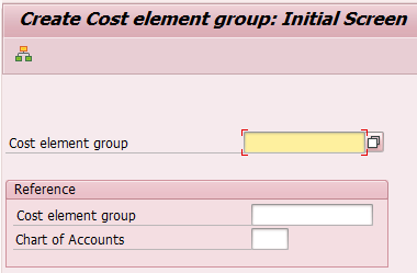 Create Cost Element Group Hierarchy in SAP