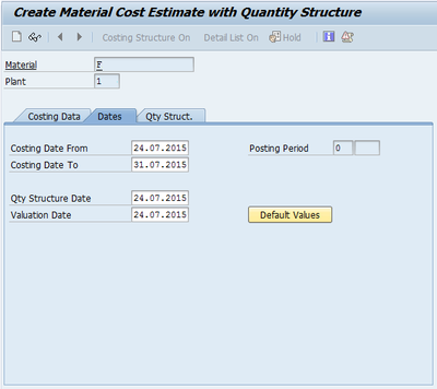 Standard Cost Estimate (Image 1.02)