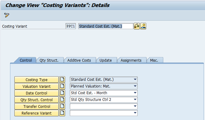 Costing Variant (Image 1.01)