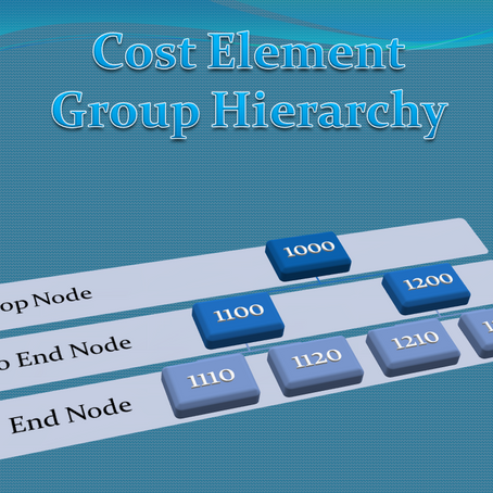 Cost Element Group Hierarchy in SAP Controlling