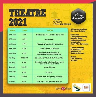 The Hive Theatre 2021