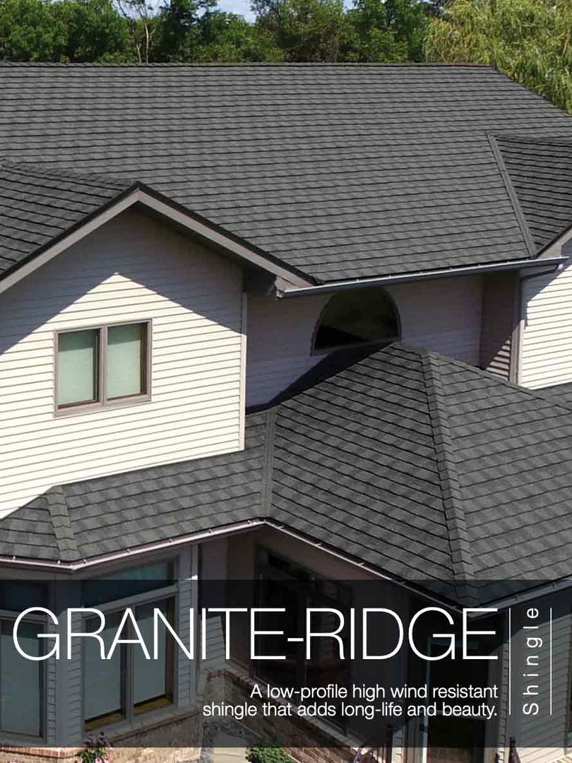Boral Stone Coated Steel Granite Ridge Shingle
