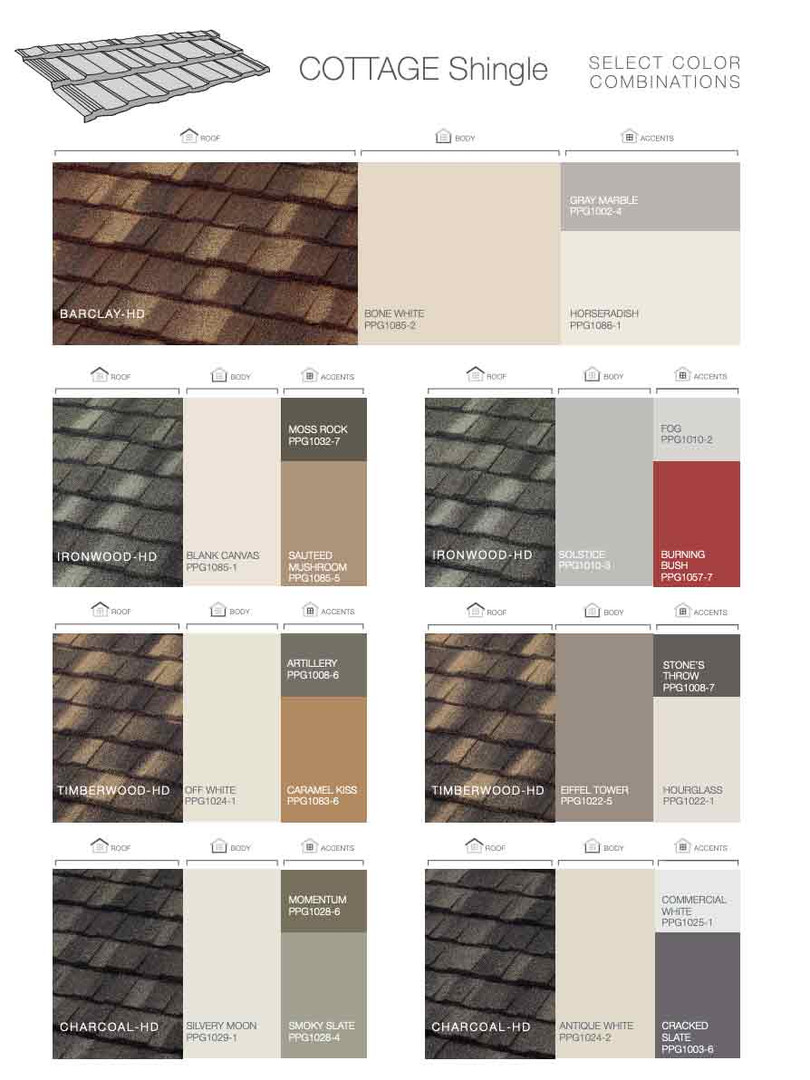 Boral Stone Coated Steel Cottage Shingle Color Combination
