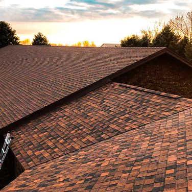 Burnt Sienna Asphalt Roof