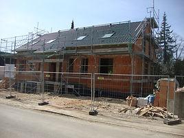 Steg Projekte Doppelhaus im Bau