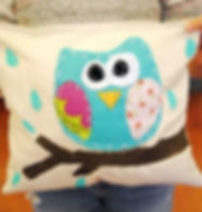 Owl pillow a sewing creation