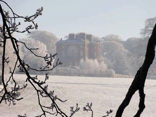 Barlaston Hall on a frosty morning