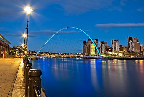 Gateshead Millennium Bridge and Quays