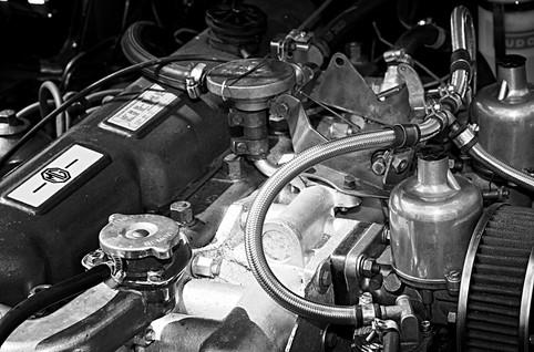 Classic MG Sports Car Engine