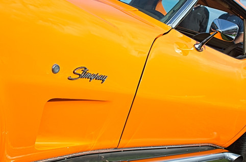 Bright Orange Chevrolet Corvette Stingray