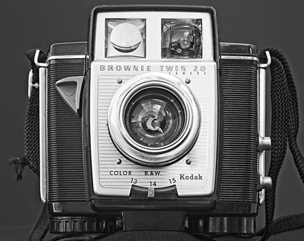 Kodak Twin 20 Vintage Black and White Camera