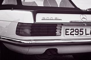 1987 Mercedes 300SL Rear Quarter
