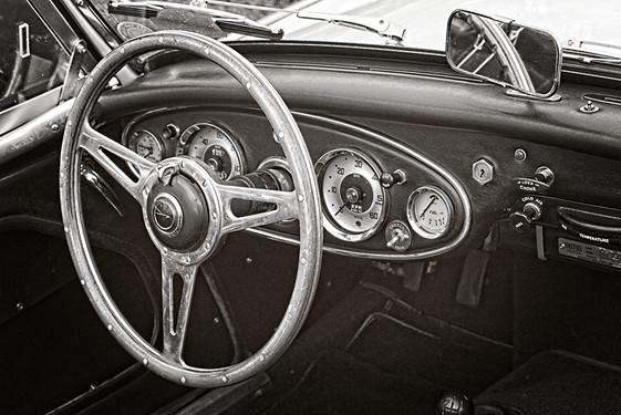 Austin Healey 3000 Classic Sports Car Interior