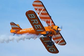 Bright Orange Bi-Plane