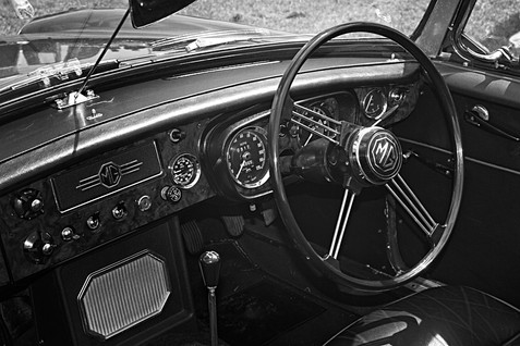 MG Sports Car Interior