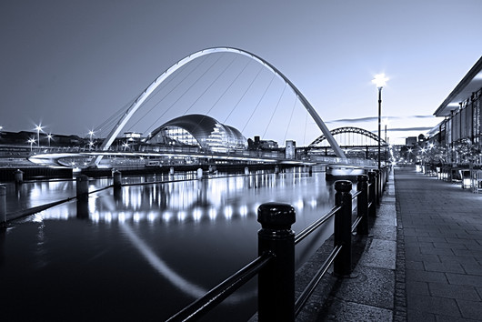 Newcastle Quayside and Millennium Bridge