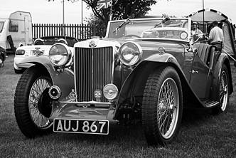 Vintage MG-T Sports Car