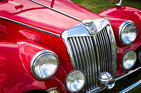 Red MGA Vintage Classic Sports Car