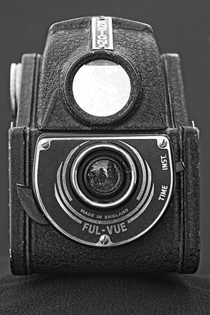 Ensign Ful-Vue Vintage Black and White Camera