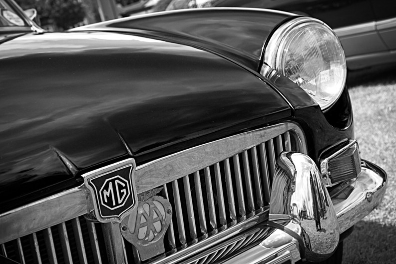 Classic MG Sports Car Front