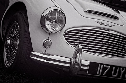 Austin Healey Classic Sports Car Front