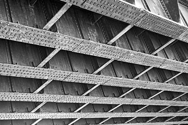 Old Disused Railway Bridge Rivets