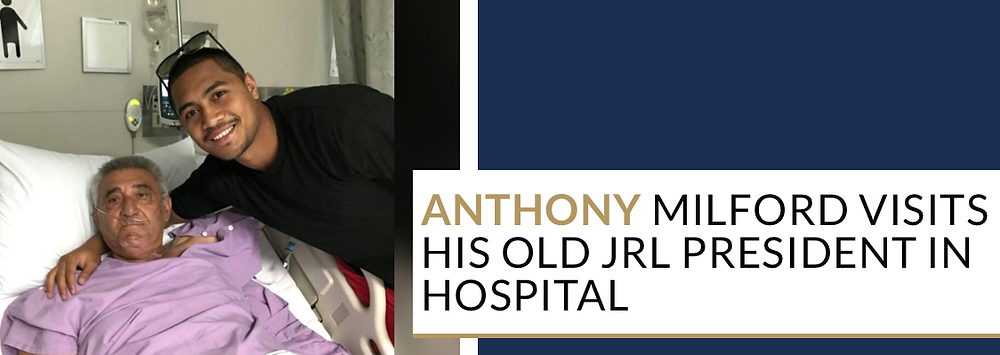 Anthony Milford Visits old JRL President in Hospital