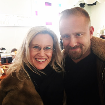 With Ben Foster at Sundance
