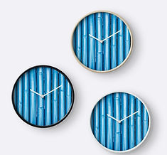 Clocks blue bamboo design