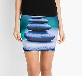 mini skirts zen stones design