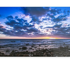 Metal prints sunset beach landscape