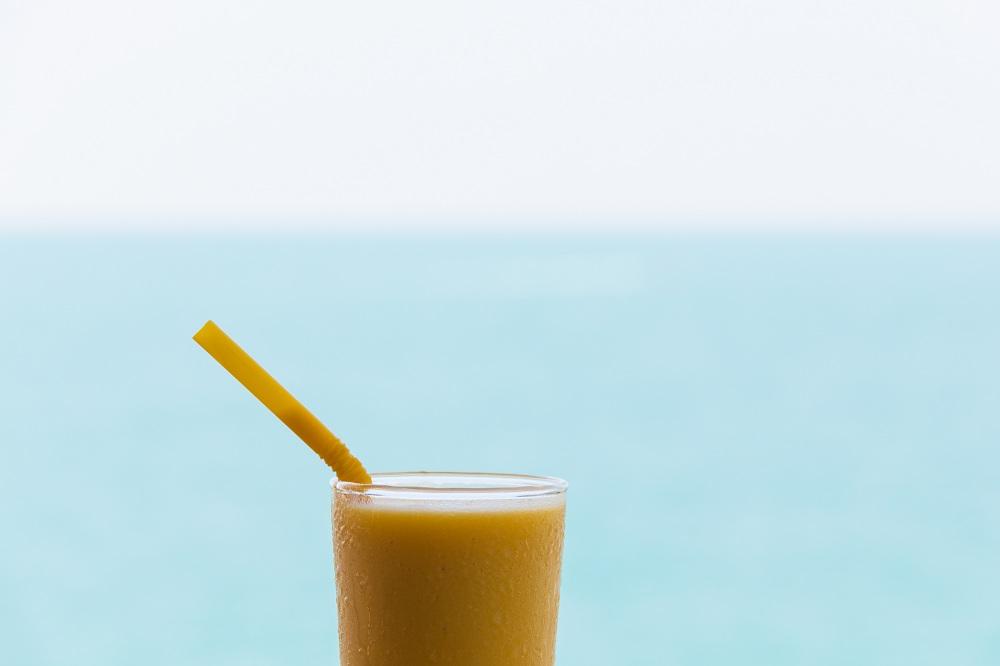 mango juice food photography