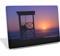 laptop skins sunset love design